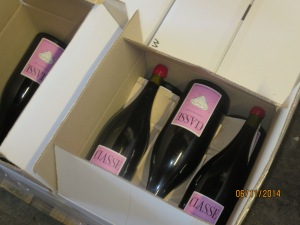 Magnums of Classe ready for the Big Apple