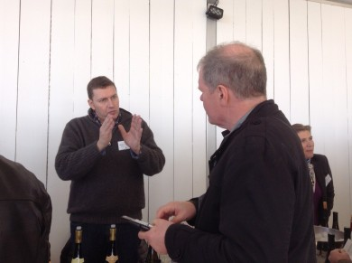 Talking with Olivier Humbrecht, great winemaker, nice man